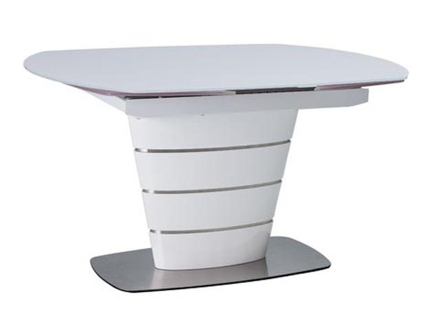 Smartshop Jídelní stůl AURELIO rozkládací, bílý