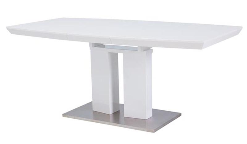 Smartshop Jídelní stůl DIVANI, rozkládací bílý