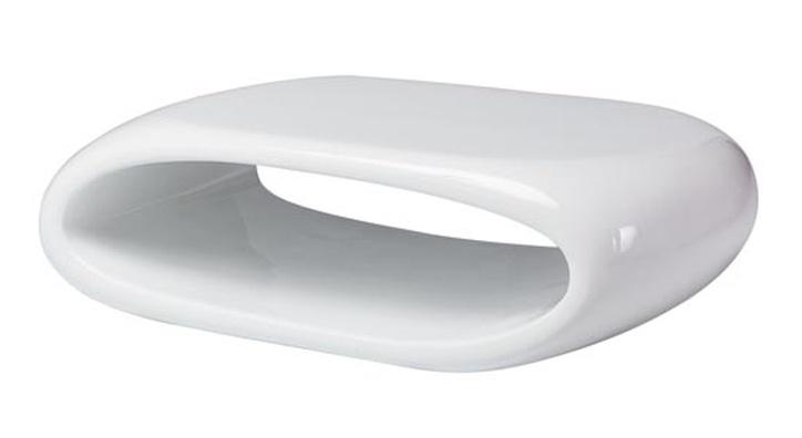 Konferenční stolek FLORES, bílý