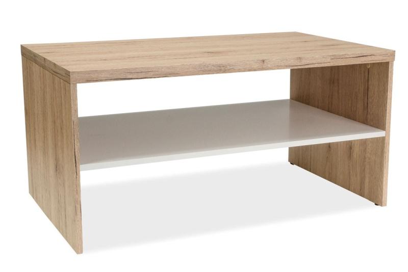 Konferenční stolek DORA, dub sonoma/bílá