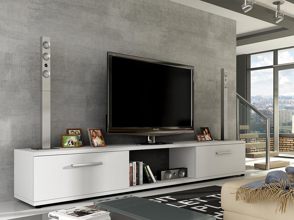 Televizní stolek LOBA RTV, bílý mat