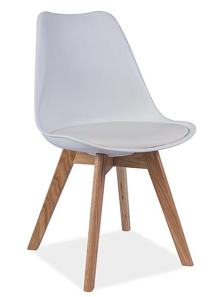 Smartshop Jídelní židle KRIS, bílá/buk
