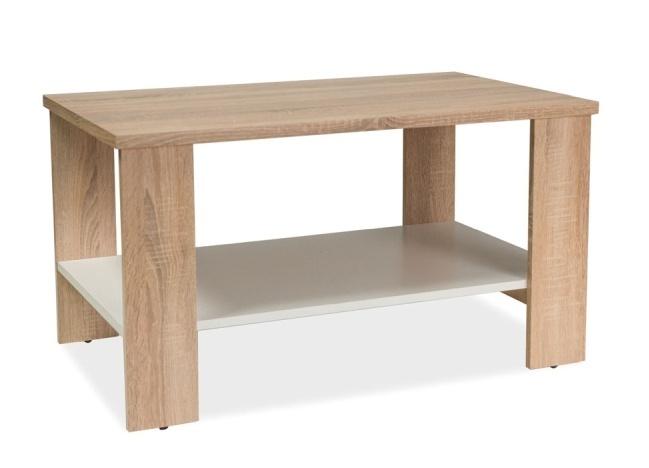 Konferenční stolek LARA, dub sonoma/bílá