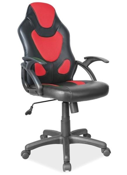 Kancelářské křeslo Q-100, černá/červená