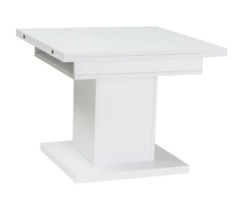 Jídelní/konferenční stůl SCALA rozkládací, bílá