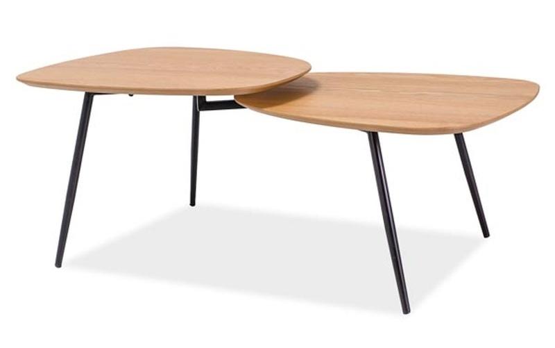 Konferenční stolek ZOE, dub/černá