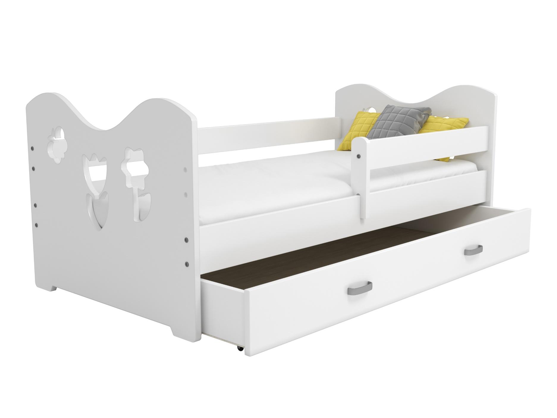 Dětská postel MIKI B2 80x160, bílá + barva čela: …