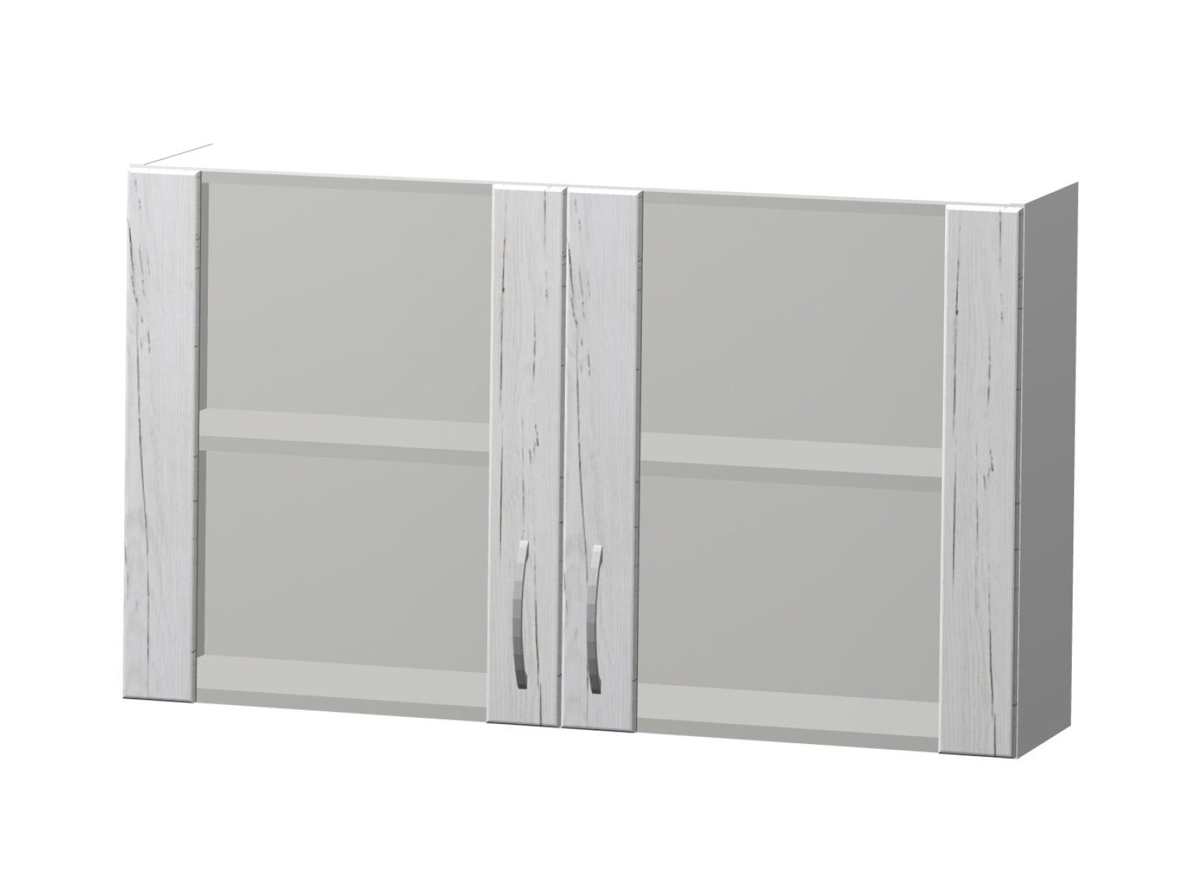 ADELA horní vitrína H 100 Z, korpus bílý/dvířka pino aurelio