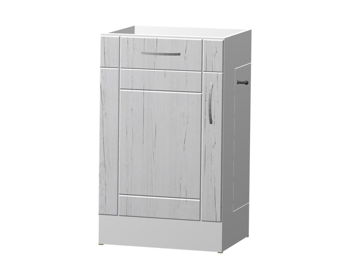 ADELA dolní skříňka S 50 KDZ s odpadkovým košem, korpus bílý/dvířka pino aurelio