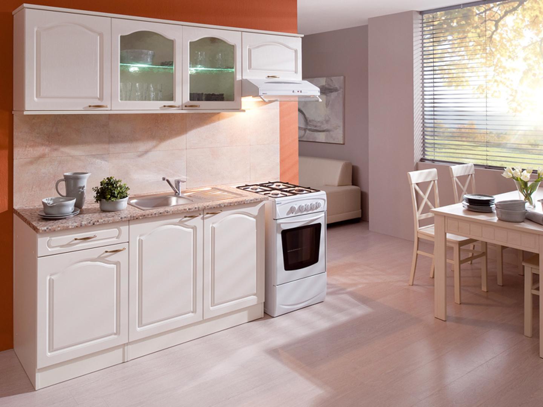 Kuchyně JULA 150/210 cm, korpus vanilka/dvířka magnolie