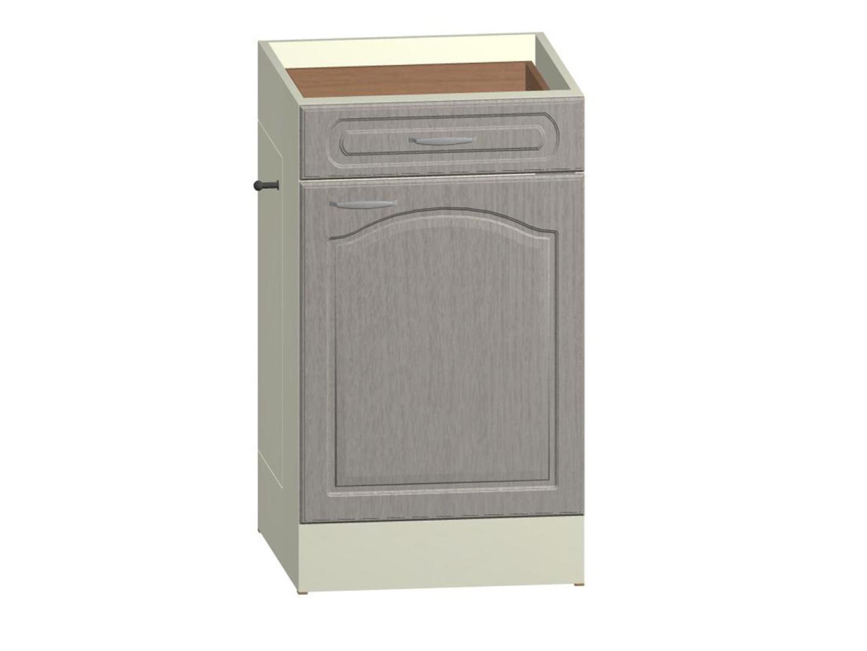 JULA dolní skříňka pravá S 50 KDZP s odpadkovým košem, korpus vanilka/dvířka magnolie