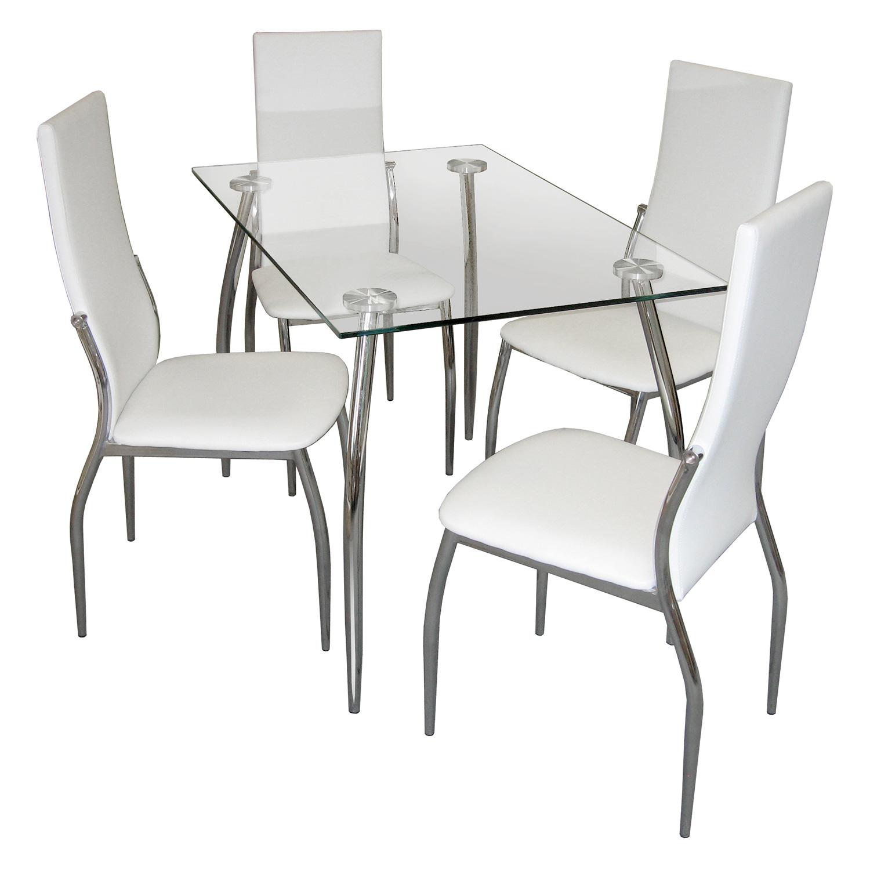 Jídelní stůl GRANADA + 4 židle IBIZA krémově bílá