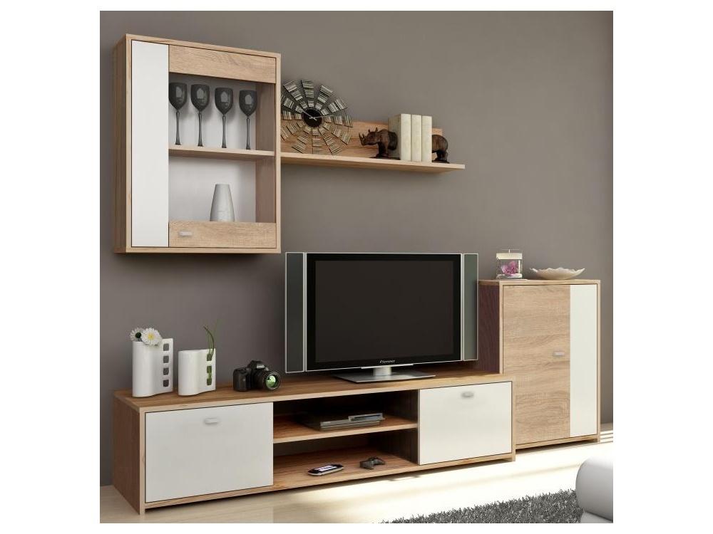 Smartshop GENTA obývací stěna, dub sonoma / bílá