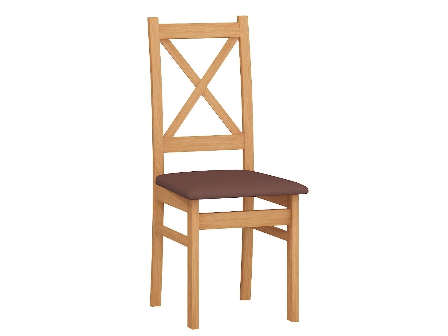 Jídelní židle D, potah hnědá ekokůže, barva: …