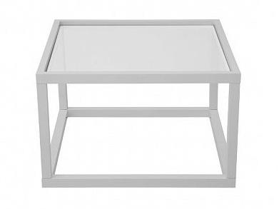 Black Red White MODAI konferenční stolek LAWA sklo 63X63 bílá (TX098)