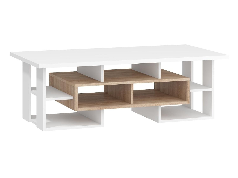 Konferenční stolek DORINDA typ 1, dub sonoma/bílá, 5 let záruka