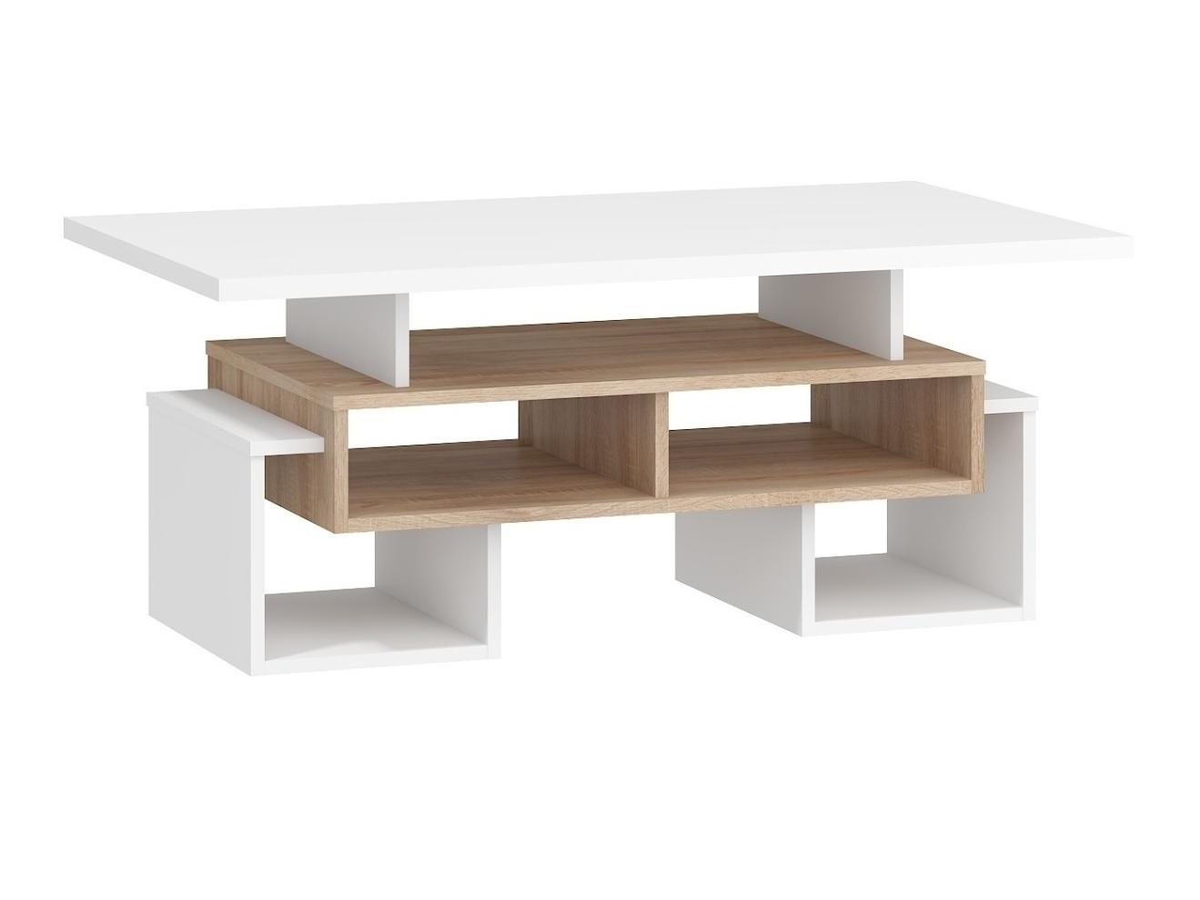 Konferenční stolek DORINDA typ 2, dub sonoma/bílá, 5 let záruka