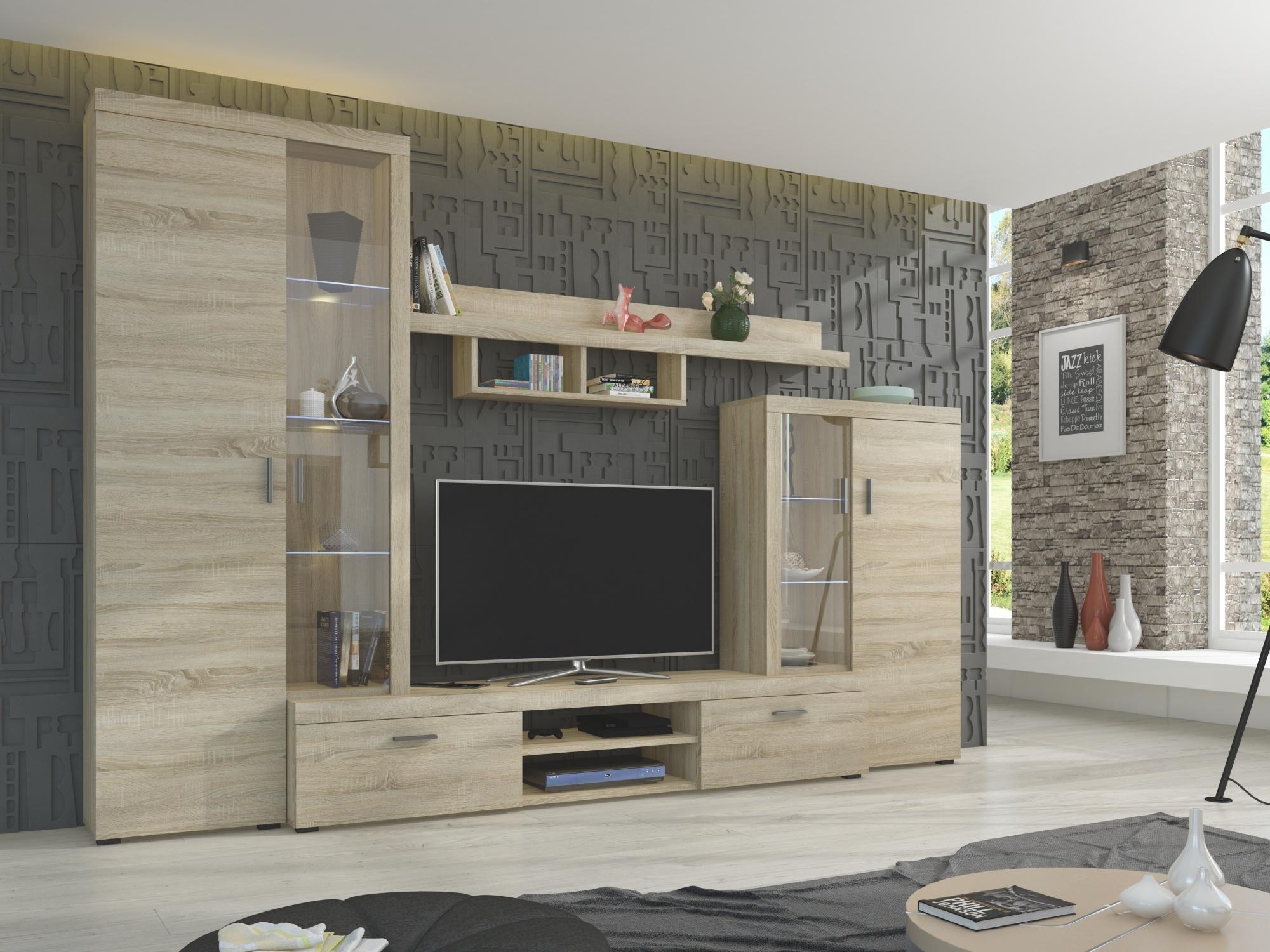 Obývací stěna ASTI, dub sonoma
