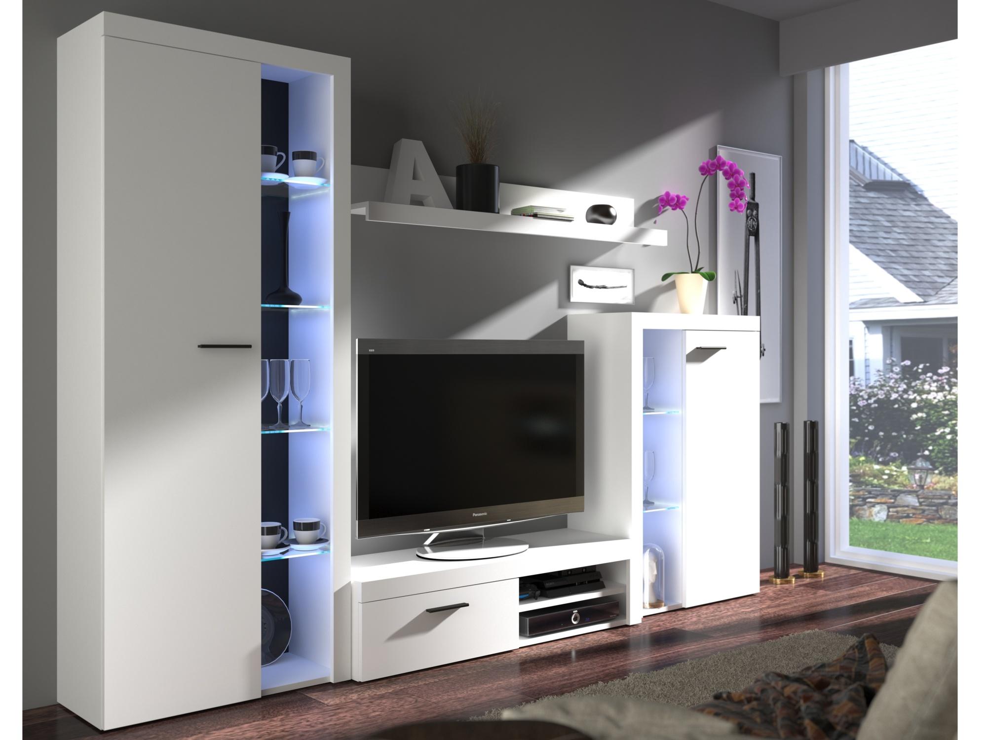 Obývací stěna RUMBA, bílá