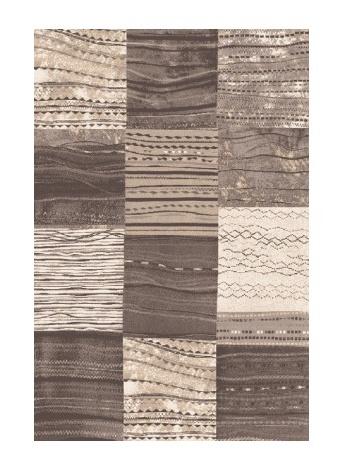 Black Red White MIRENA kusový koberec 133x190, kmínový, obdélník