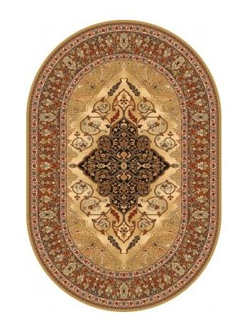 LEYLA kusový koberec 200x300, jantar, ovál
