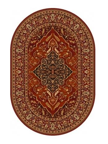 LEYLA kusový koberec 200x300, rubín, ovál