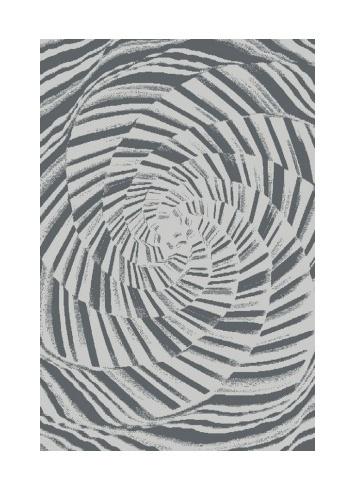 Black Red White JONO kusový koberec 133x180, šedý, obdélník