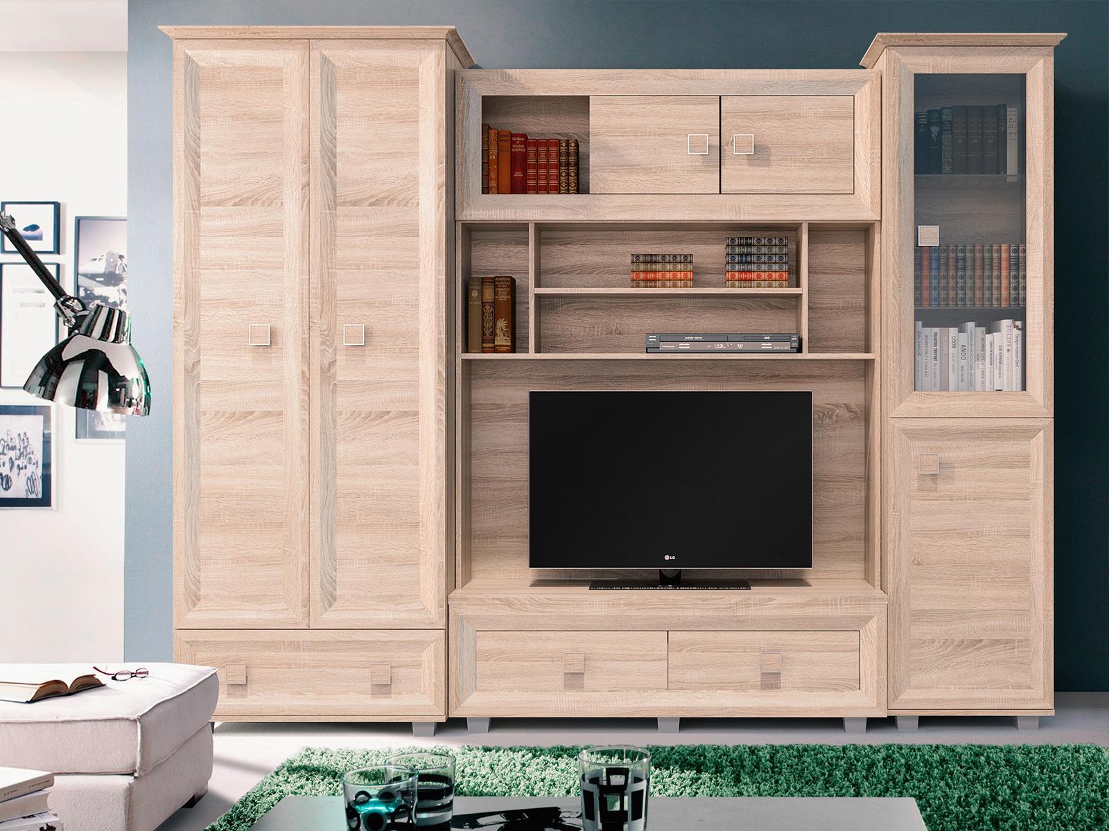 Smartshop ATOS obývací stěna, dub sonoma
