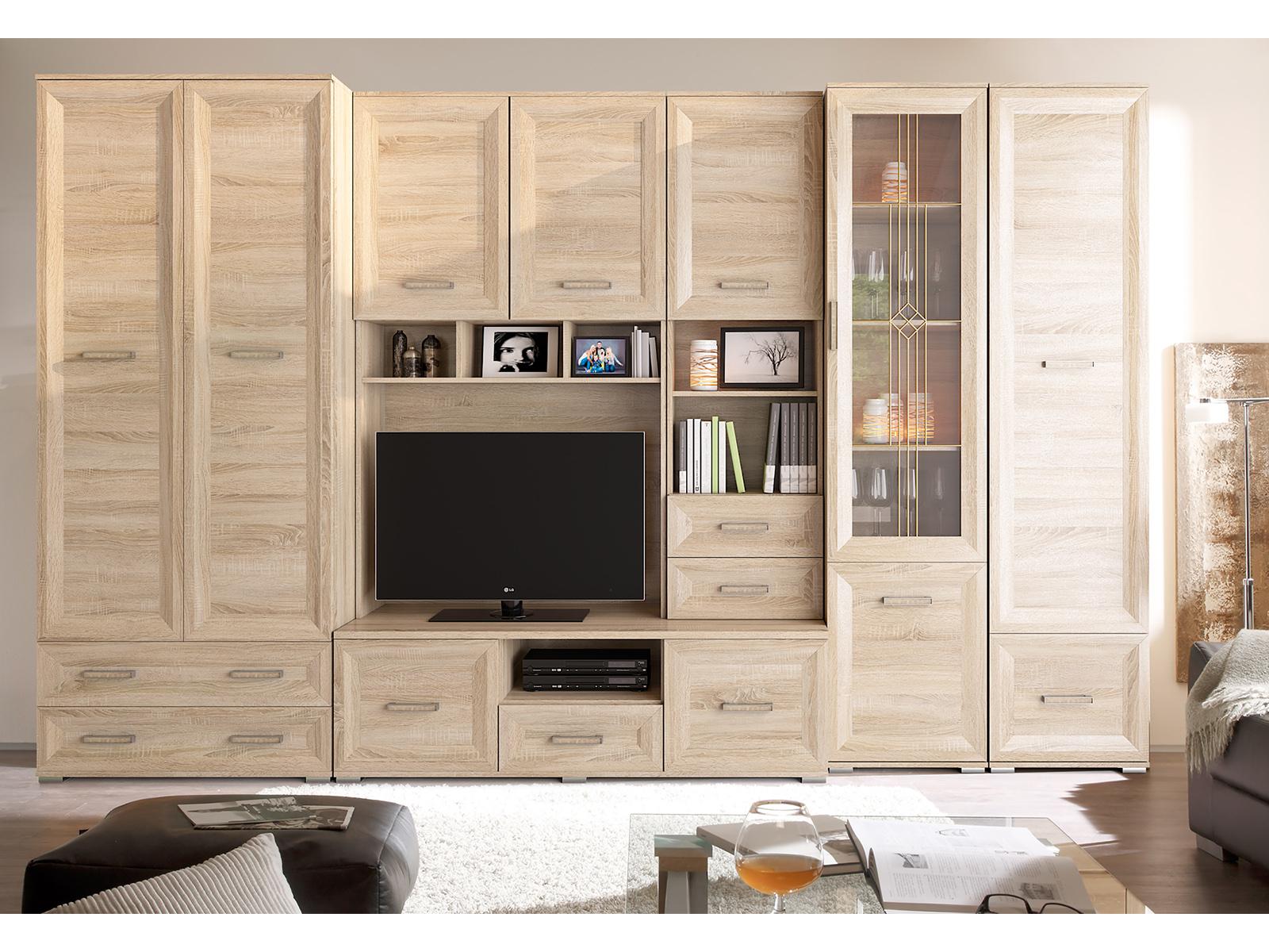 Smartshop ROXI obývací stěna, dub sonoma