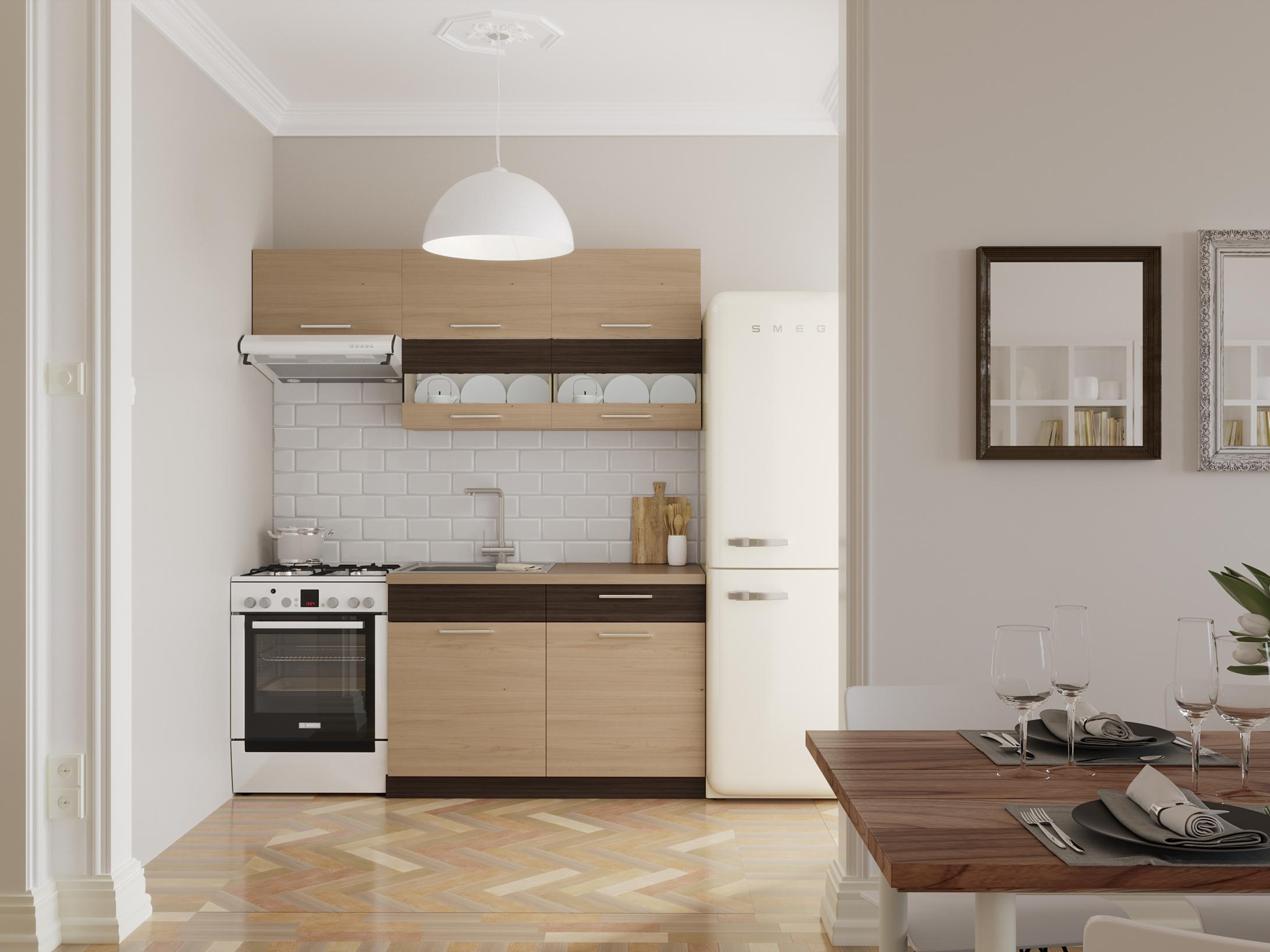 Kuchyně MODENA 120/180 cm, rijeka světlá