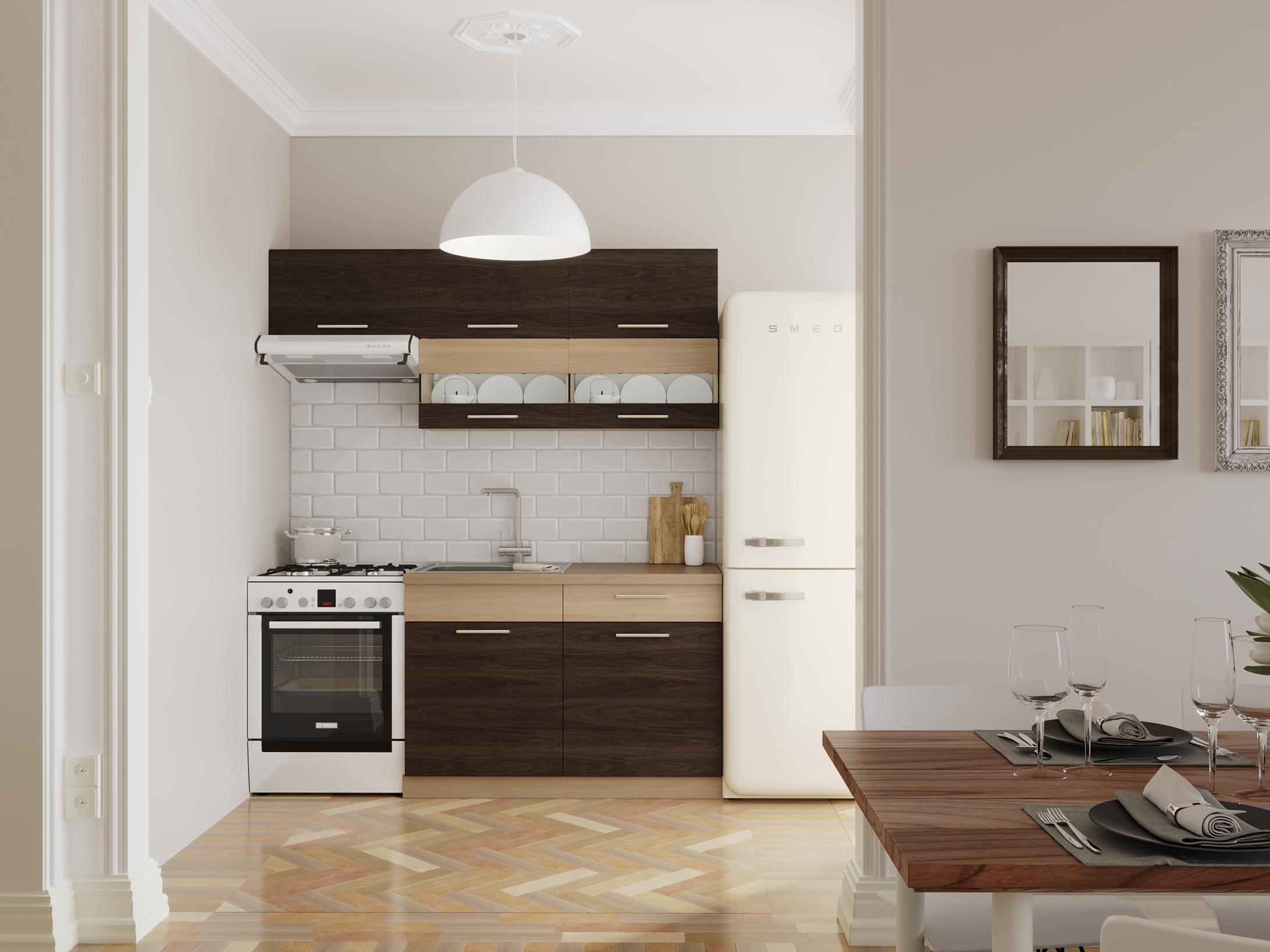 Kuchyně MODENA 120/180 cm, rijeka tmavá