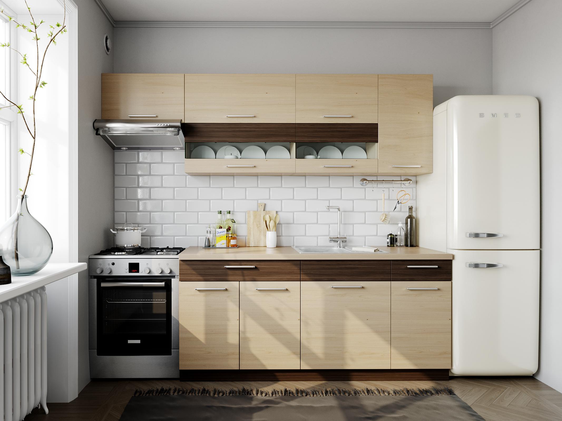 Kuchyně MODENA 180/240 cm, rijeka světlá