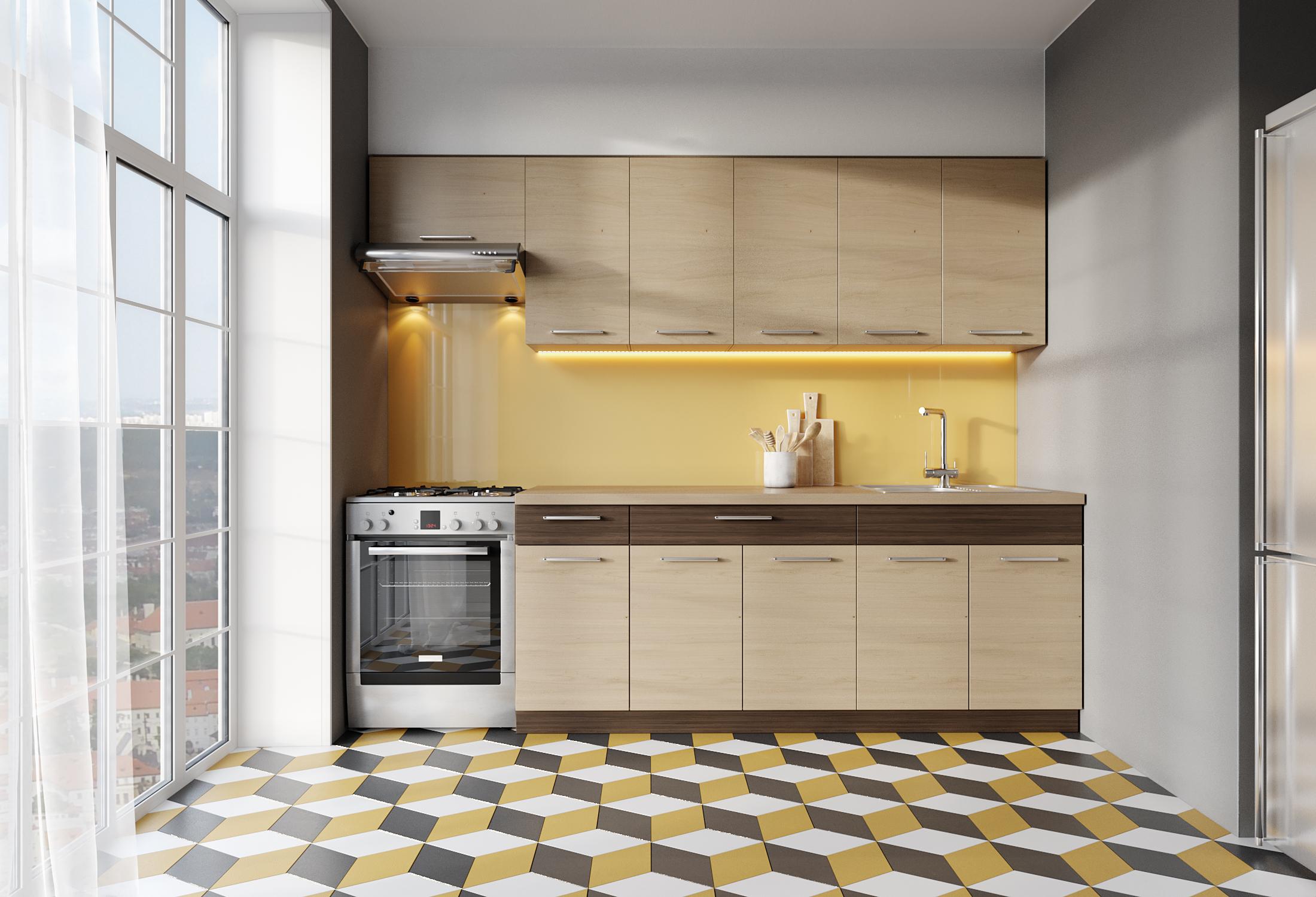 Kuchyně MODENA 200/260 cm, rijeka světlá