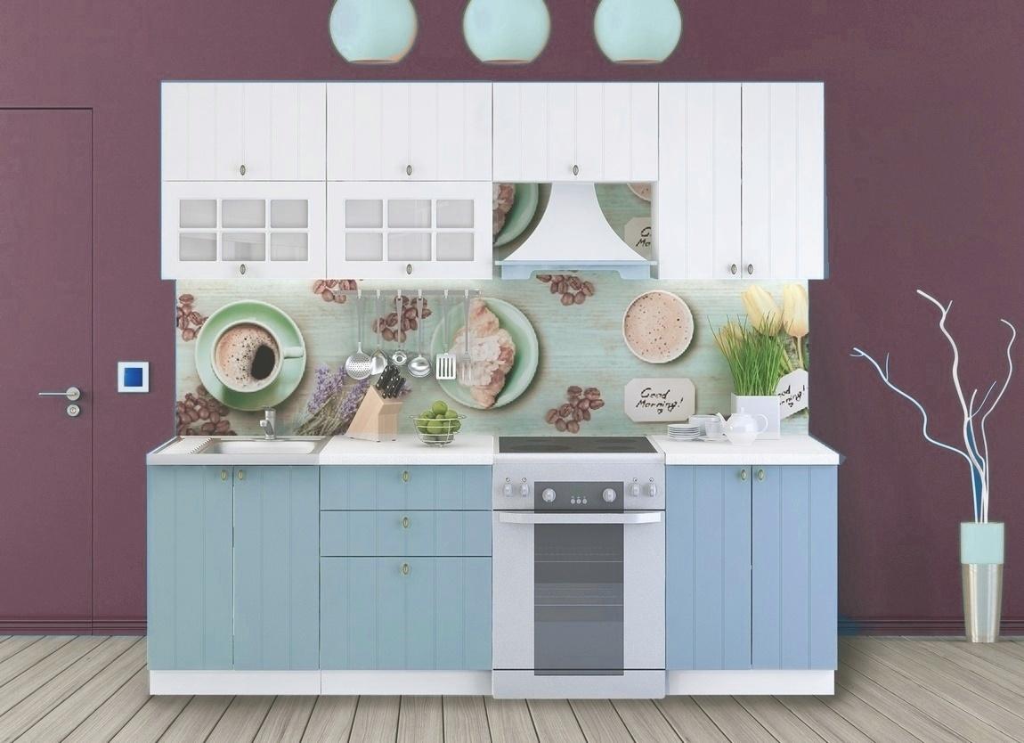 Smartshop Kuchyně PROVENCE 180/240 cm, bílá/světle modrá