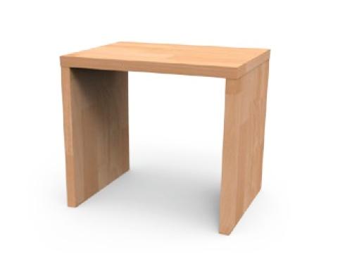 Noční stolek UNI, masiv buk