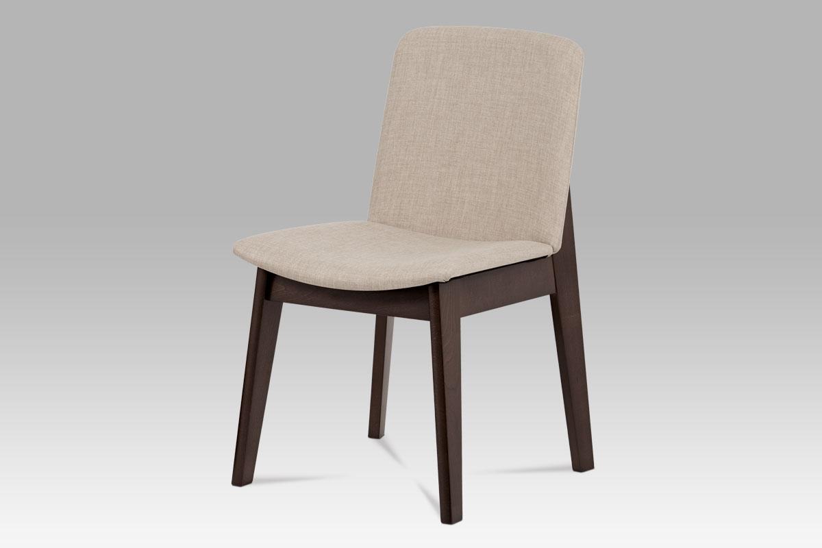 Jídelní židle BC-3915 WAL, krémová/ořech