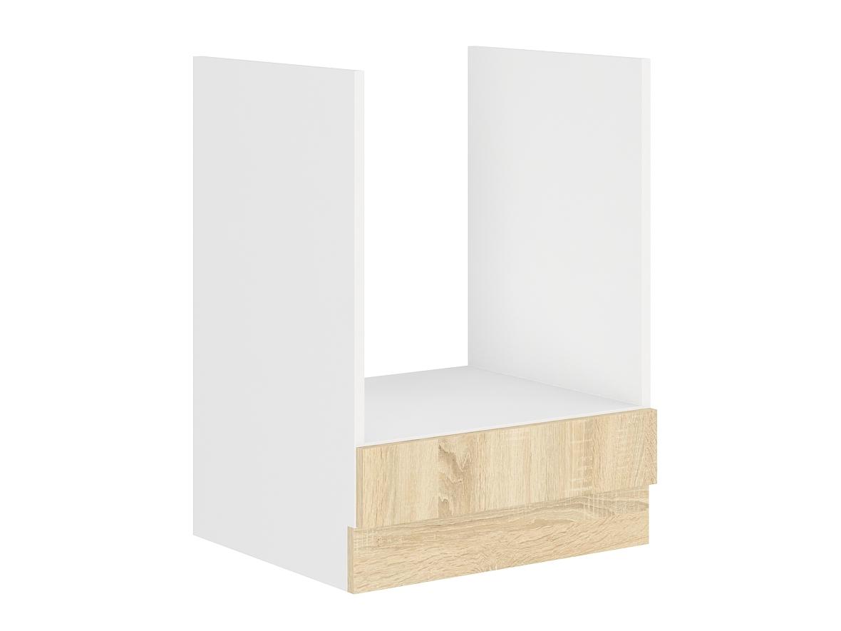 SARA SONOMA, skříňka pro vestavnou troubu 60 DG BB, bílá/dub sonoma