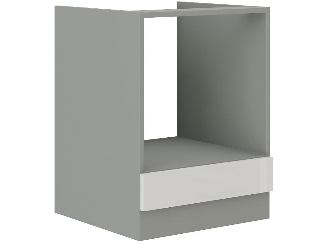BIANKA, skříňka pro vestavnou troubu 60 D GAZ BB, šedá / bílý lesk