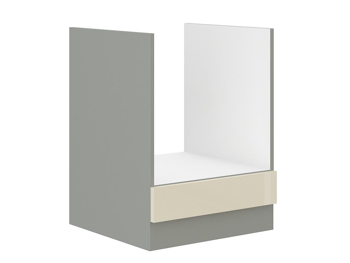 KARMEN, skříňka pro vestavnou troubu 60 D GAZ BB, šedá / krémový lesk