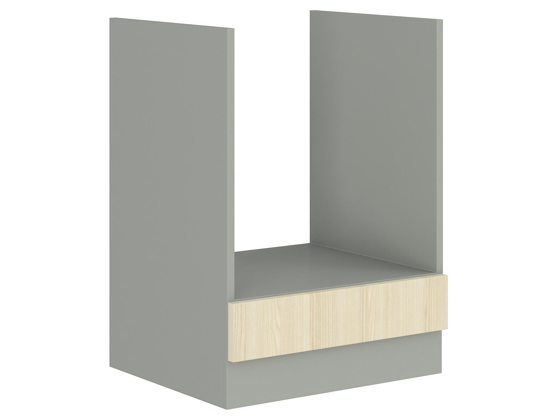 EKO AKACJA, skříňka pro vestavnou troubu 60 DG BB, šedá/akácie