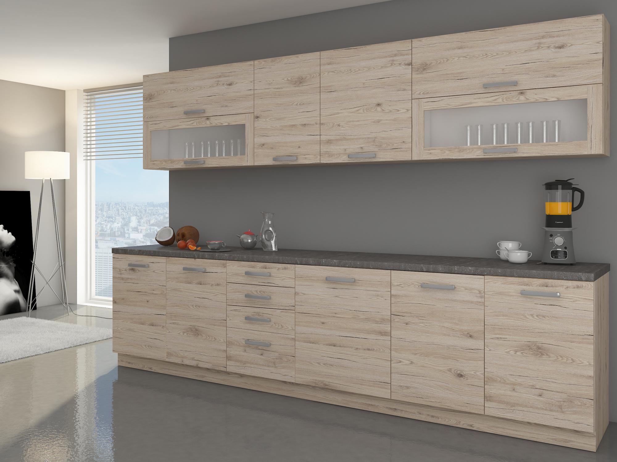 Kuchyně BORDEAUX 260, dub bordeaux