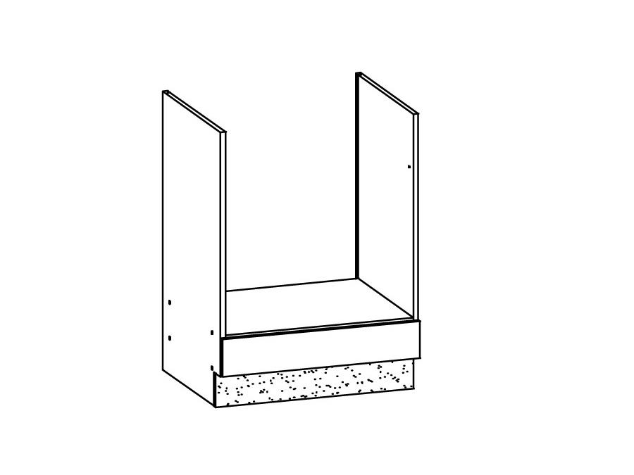 MODENA, skříňka na vestavnou troubu D60P, buk