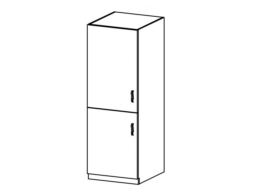 SYCYLIA, skříňka na vestavnou lednici D60ZL pravá, ořech milano