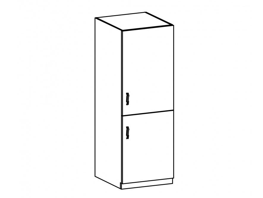 SYCYLIA, skříňka na vestavnou lednici D60ZL pravá, borovice andersen