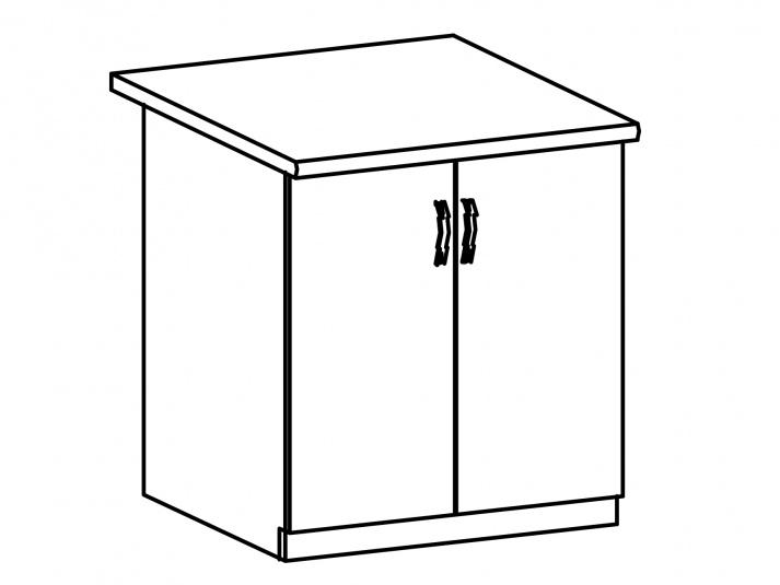 SYCYLIA, skříňka dolní D80, ořech milano