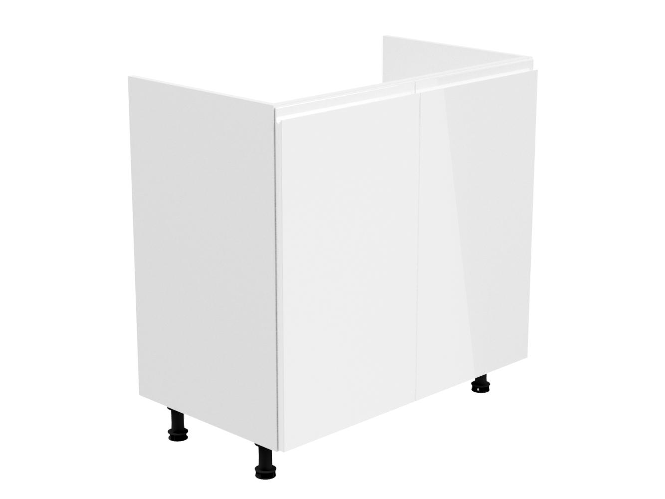GLADYS, dolní dřezová skříňka D80Z, bílá/bílý lesk