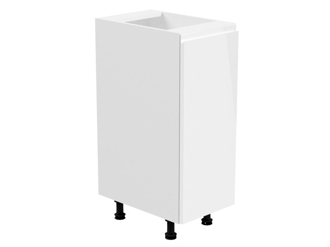 Levně ASPEN, skříňka dolní D30 levá, bílá/bílý lesk