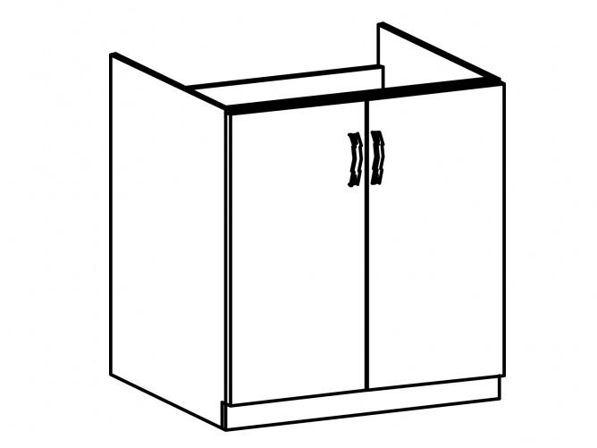SYCYLIA, skříňka dolní D80Z, ořech milano