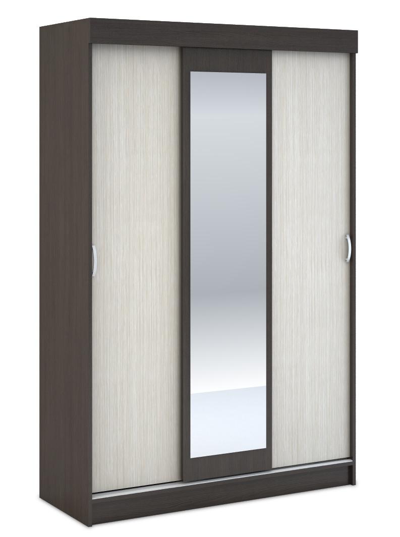 Šatní skříň BAJSA 3D se zrcadlem, belfort/wenge