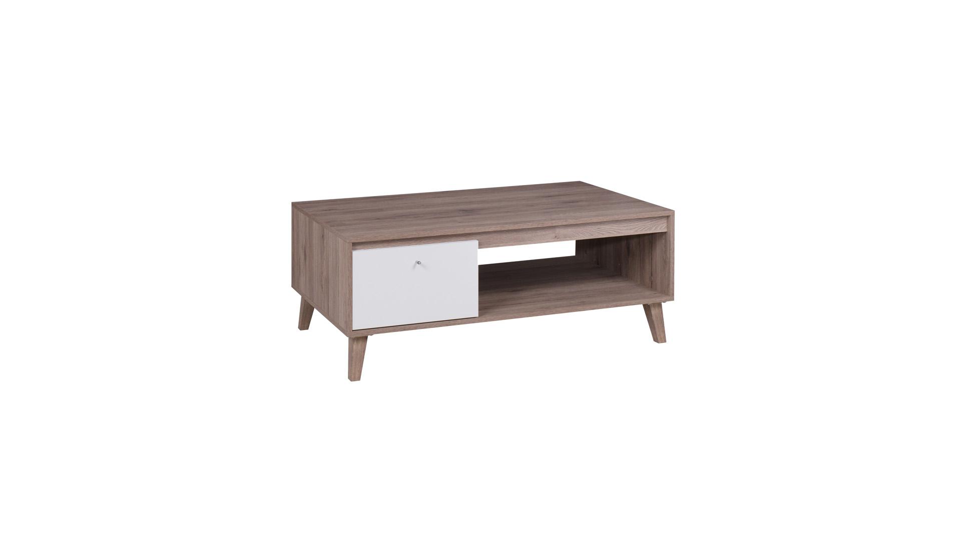 OVIEDO konferenční stolek, dub san remo tmavý/bílá